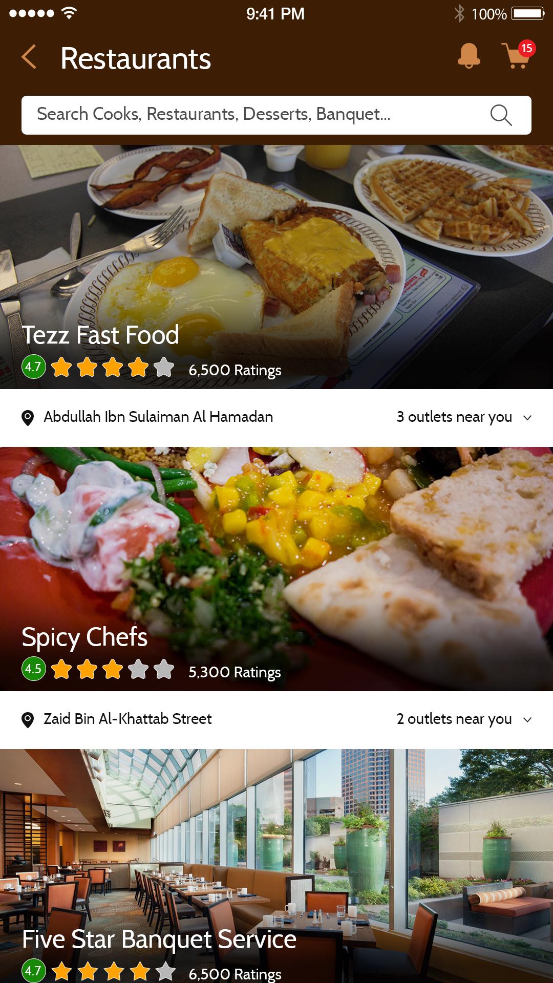 MAMMAMIA-App-Restaurants-List